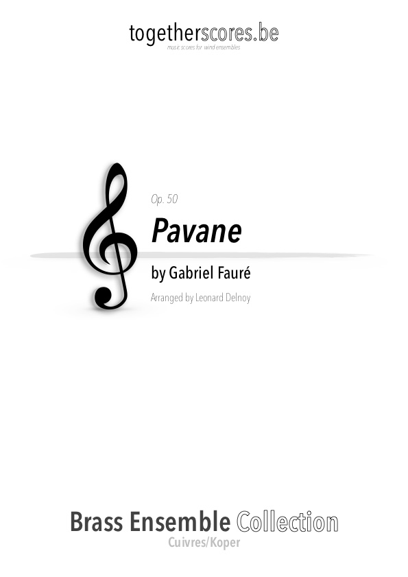 brass ensemble sheet music pavane faure