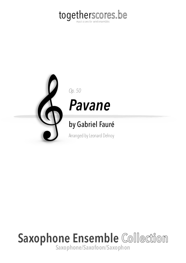 partition ensemble saxophone pavane faure
