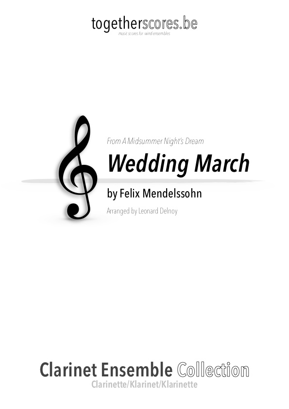 clarinet ensemble sheet music wedding march mendelssohn