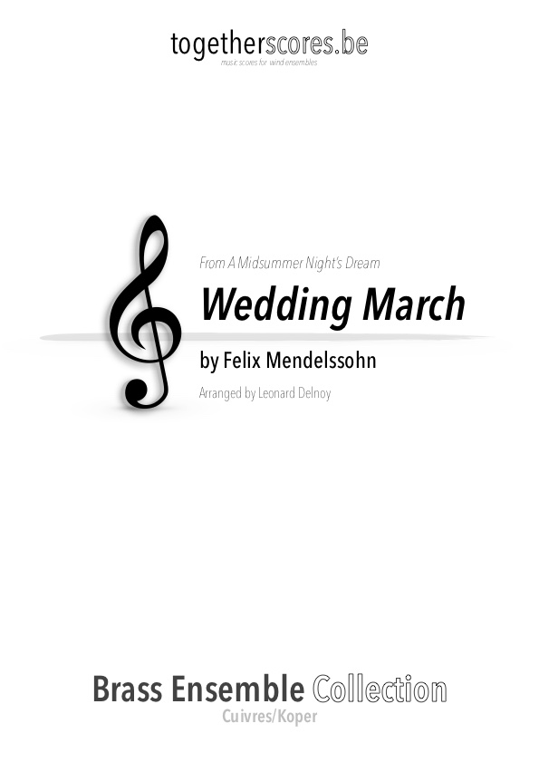 brass ensemble sheet music wedding march mendelssohn