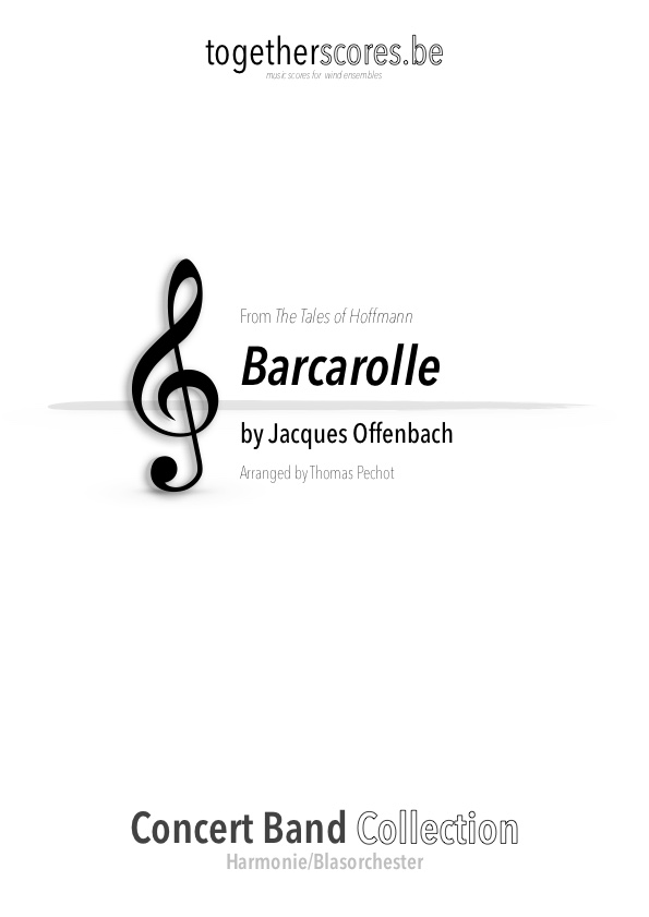 concert band sheet music barcarolle offenbach